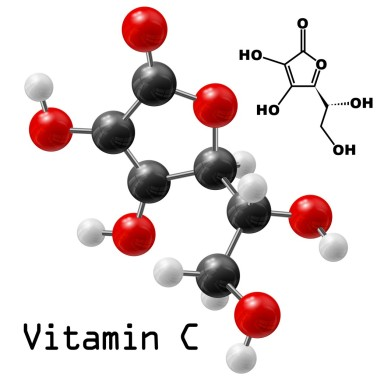 18083154 - structural model of vitamin c molecule