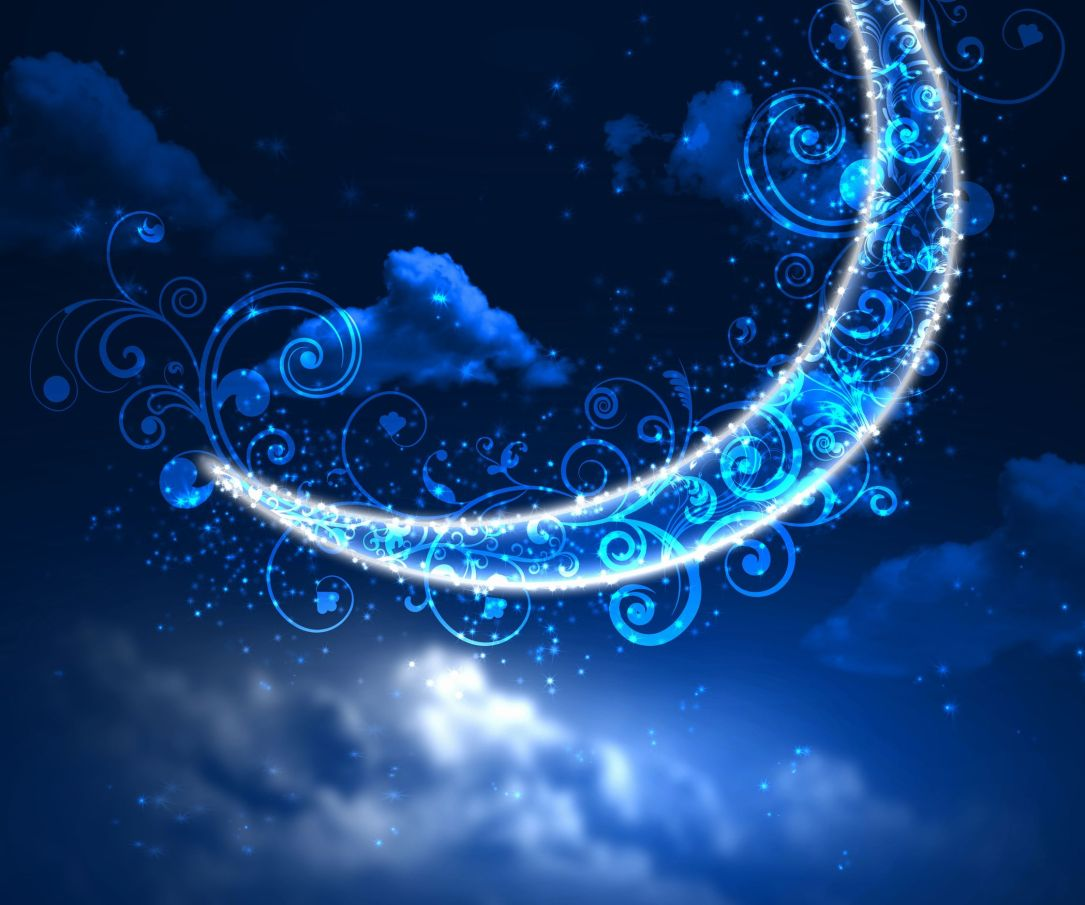 11846891 - dark blue night sky background with moon and twinkling stars